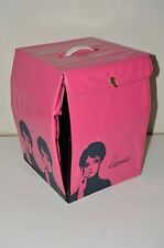 "Vintage Carousel Pink TWIGGY MOD 1960s Vinyl Wig Case Holder 12"" Carrier"