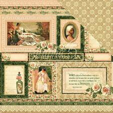 """Graphic 45 Portrait of a Lady - BLANCHE - 12x12"""" Scrapbooking Paper"""