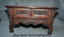 "20.2"" Antique Old Chinese Huanghuali Wood Dynasty 2 drawer Table Desk furniture"