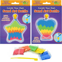 Create Your Own Sand Art Bottle Kids Childrens Creative Activity Arts Craft Set