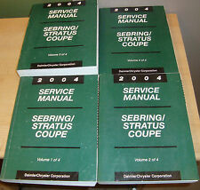 2004 Chrysler Sebring Dodge Stratus Coupe Shop Service Manual Vol 1 2 3 4 Set 04