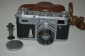 Kiev-IIa (2a) Vintage 1955 Soviet Rangefinder Camera & Case. 557530. UK Sale