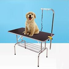 Comz STL901-Black Durable Heavy Duty Dog Pet Grooming Table with Arm and Noose -