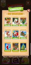 Full set white Cards From Christmas Set  Coin Master  Cards ( Fast Delivery)