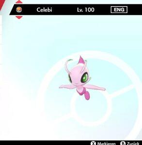 Shiny Celebi Pokemon Schwert Schild LVL 100 *** 6DV! *** + Meisterball! ***