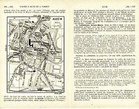 Auch 1932 plan ville orig. + guide (4 p.) St-Orens Statue de Villaret Joyeuse