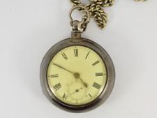 Face Case Albert Chain 925 Jw11 Antique Pocket Watch Sterling Silver Open