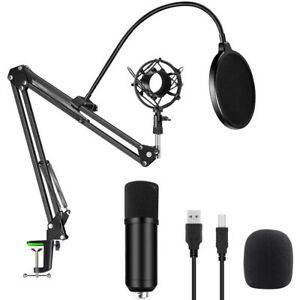 USB Podcast 192kHZ/24bit Professional PC Streaming Condenser Cardioid Microphone