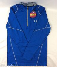 Under Armour MEN Cold Gear Infrared Long Sleeve 1/4 Zip Shirt Fitted Blue Size S