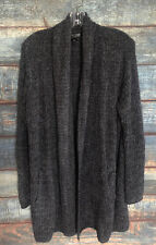 Barefoot Dreams Cozychic Long Cardigan Gray Bell Sleeves Sz L