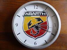 ABARTH pendule murale horloge 20cms ( KDO DKO AUTOBIANCHI RITMO A112 FIAT 500