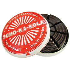 Scho-Ka-Kola German High Caffine Dark Chocolate Energy Boost Sweet Cola Nut Tin