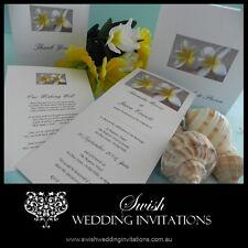 Frangipani Sand Beach Engagement Wedding Invitations - Samples Invites ONLY $1
