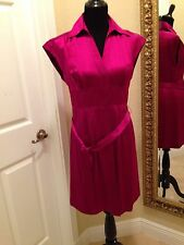 I.N.C International Concepts Button Down Cap Sleeve Silk Dress, Size 8