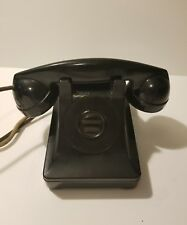 Western Electric Bell System F1 1950s Peking Black Dialess Telephone Vintage