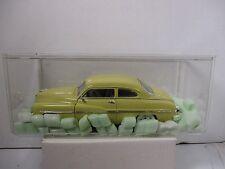 1/18 Scale Loose Ertl American Muscle Yellow 1949 Mercury W/ Acrylic Case