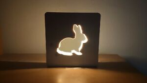 Wooden bunny lamp, night lamp, mood lamp