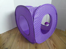 (PU001) Purple Cat Kitten Rabbit Pop Up Play Cube Tent