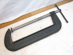 """Large Hargrave 540 Large Heavy Duty C-Clamp 12"""" X 3"""" Narrow Throat"""