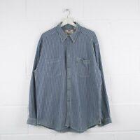 Vintage LEVI'S Blue Striped Denim Shirt Size Mens XL