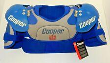 New Nos Cooper Sp650 Ice Hockey Shoulder Pads Blue/Grey ~ Size: Mens Large