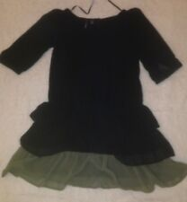 Robe Noir Gris MANGO CASUAL Taille XS