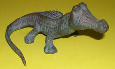 More details for vintage bronze model of a caiman alligator - strong patina - lovely detail.