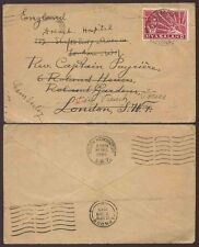 Nyasaland 1944 aux forces françaises libres transmis camberley gb capt payriere + hosp