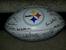2000s Pittsburgh Steelers White team signed facsimile football