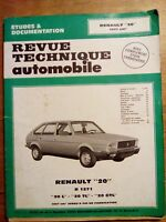 REVUE TECHNIQUE AUTOMOBILE RENAULT 20 1990