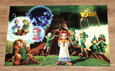 1998 The Legend of Zelda Ocarina of Time rare small double sided Poster 40x26cm