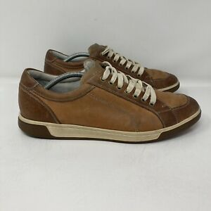 Cole Haan Sneakers Shoes Soft Leather Brown British Tan Lace Up Mens 10.5