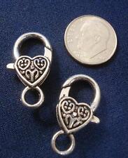 2 Huge lobster claw jewelry clasps 25mm 1in silver pltd necklace bracelet fpc153