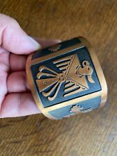 Copper Braceler, Native American Nice And Heavy Thunderbird