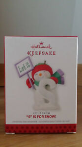 Hallmark Let It Snow S Is For Snow 2013 Christmas Ornament