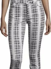 NWT 7 For All Mankind High Waist Skinny in Houndstooth Plaid Stretch Jeans 32