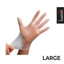 Disposable LARGE Vinyl Clear Powder Free Gloves, Box of 100