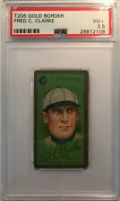 1911 T205 Tobacco Baseball Card FRED CLARKE HOF Pirates PSA 3.5 VG+