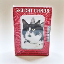 Kikkerland Lenticular 3D Cat Holographic Poker Size Deck Playing Cards Games