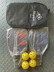 Niupipo MX-19 Pickleball Set 2 Rackets, 4 Balls