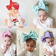 NEWCotton Girls Kids Baby Bow Hairband Headband Turban Knot Head Wrap Collection