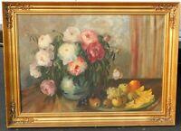 I.B. Debois, oil/canvas 26 x 38, vintage gold leaf frame