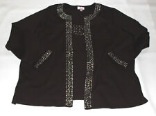 Women's QUACKER FACTORY Embellished Brown Top Size 3X