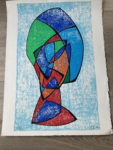 LIMITED EDITION ART PRINT SUBJECT ABSTRACT - SIGNED DATED AND NUMBERED- JAPAN