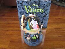 Disney Villains Snow White Evil Queen Light Up Talking Mirror Snow Globe w/ Box
