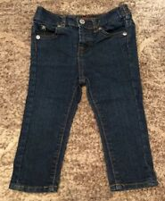 """BABY GIRLS SIZE 12 Months """"7 FOR ALL MANKIND"""" SKINNY FIT STRETCH JEANS"""