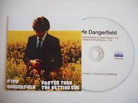 FYFE DANGERFIELD : FASTER THAN THE SETTING SUN [ PROMO CD SINGLE ] PORT GRATUIT