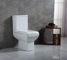 Square White Close Coupled  Toilet Pan Cistern WC Modern Bathroom model 521