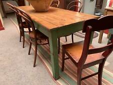 Australian Pine WOODEN DINING KITCHEN TABLE depression era rustic country
