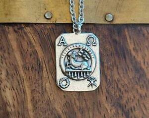 "Sterling Silver  "" Agnus Dei - Lamb of God Medal"""